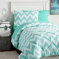 PB Teen Zig Zag Stripe Value Comforter Set, Twin, Pool ...