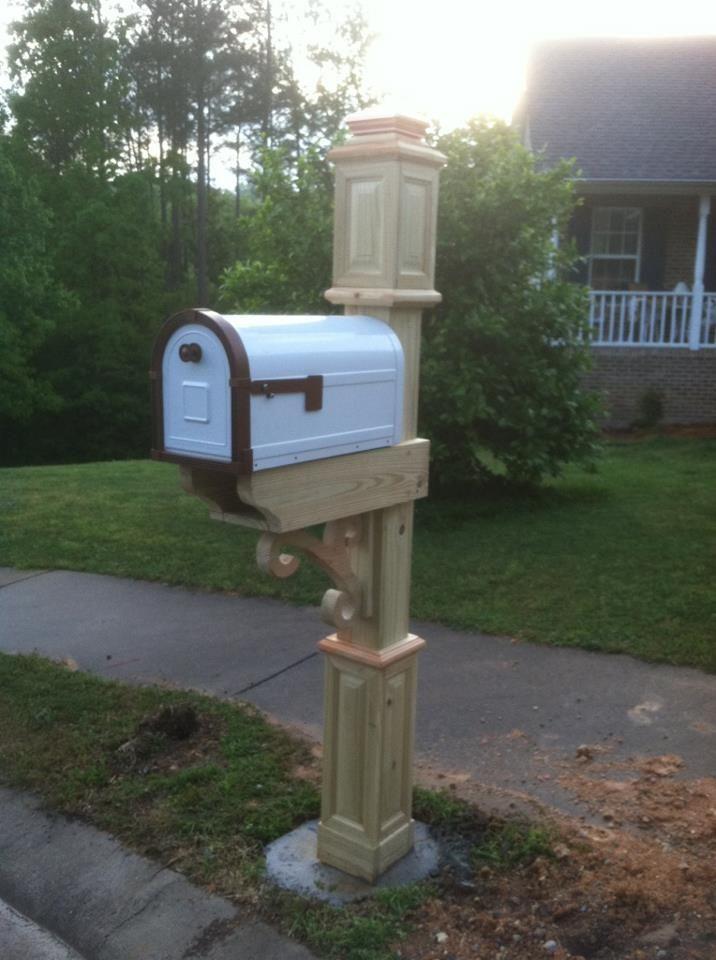custom mailbox post  wood working  Pinterest  Custom mailboxes Mailbox post and House siding
