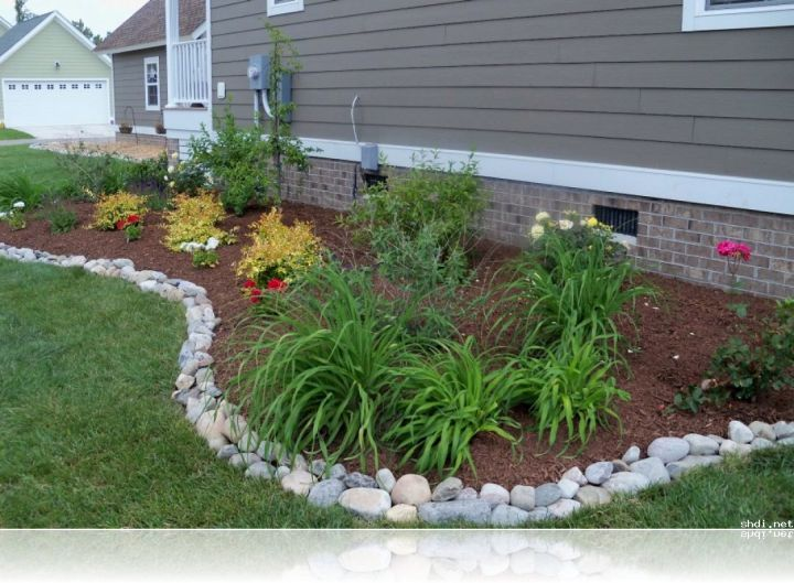 Simple Rock Garden Ideas With White River Stone Border Gardening