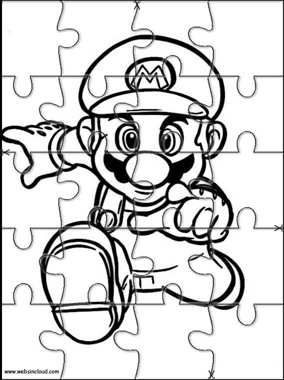 Printable jigsaw puzzles to cut out for kids Mario Bros 32