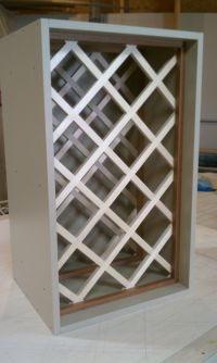 how to build a lattice wine rack over the refrigerator ...