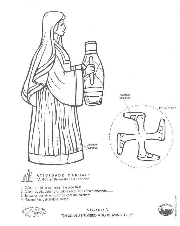 Knutselwerkje voor kleuters, de Samaritaanse vrouw