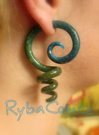 Fake ear gauges / Faux gauges/Gauge earrings / fake ...