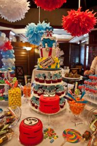 Dessert table for Thing 1 and Thing 2 Baby Shower | Baby ...