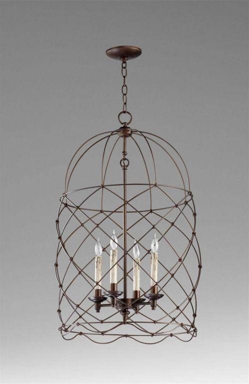 Beautiful Wire Basket Chandelier French Rosepourpre