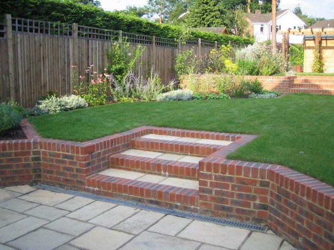 Garden Patio Ideas Sloping Garden Google Search Garden Patio
