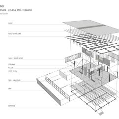 Exploded Axon Diagram Big 3 Wiring Gallery Of Baan Nong Bua School Junsekino Architect And