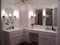 Custom built home - Master Bathroom with custom white ...