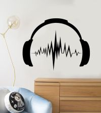 Vinyl Wall Decal Headphones Sound Music Musical Teen Room ...