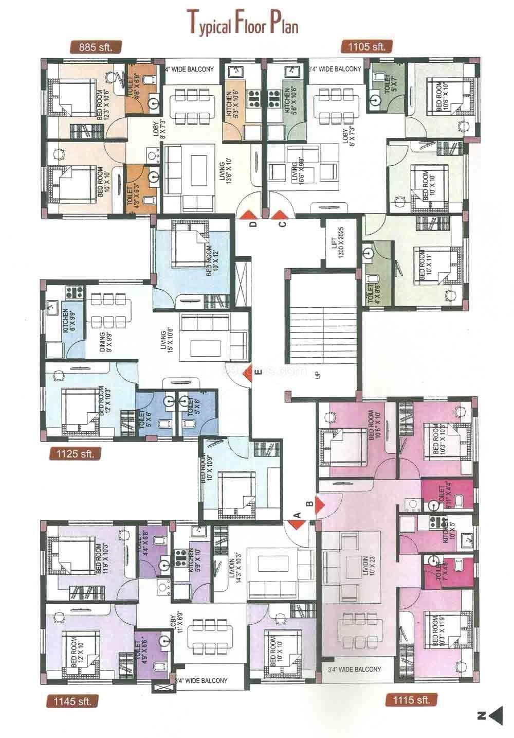 2 Bedroom Apartment Plans  httpwwwdesignbvildcom