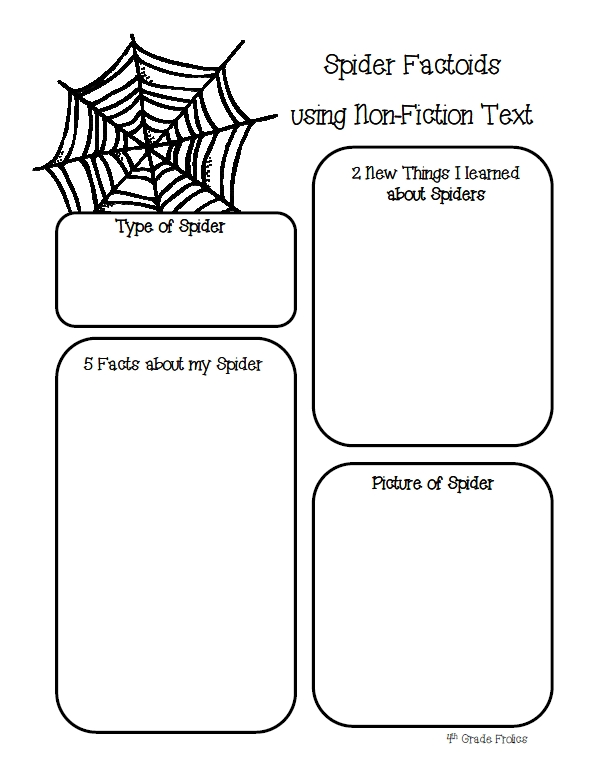 Spider Web Writing Template