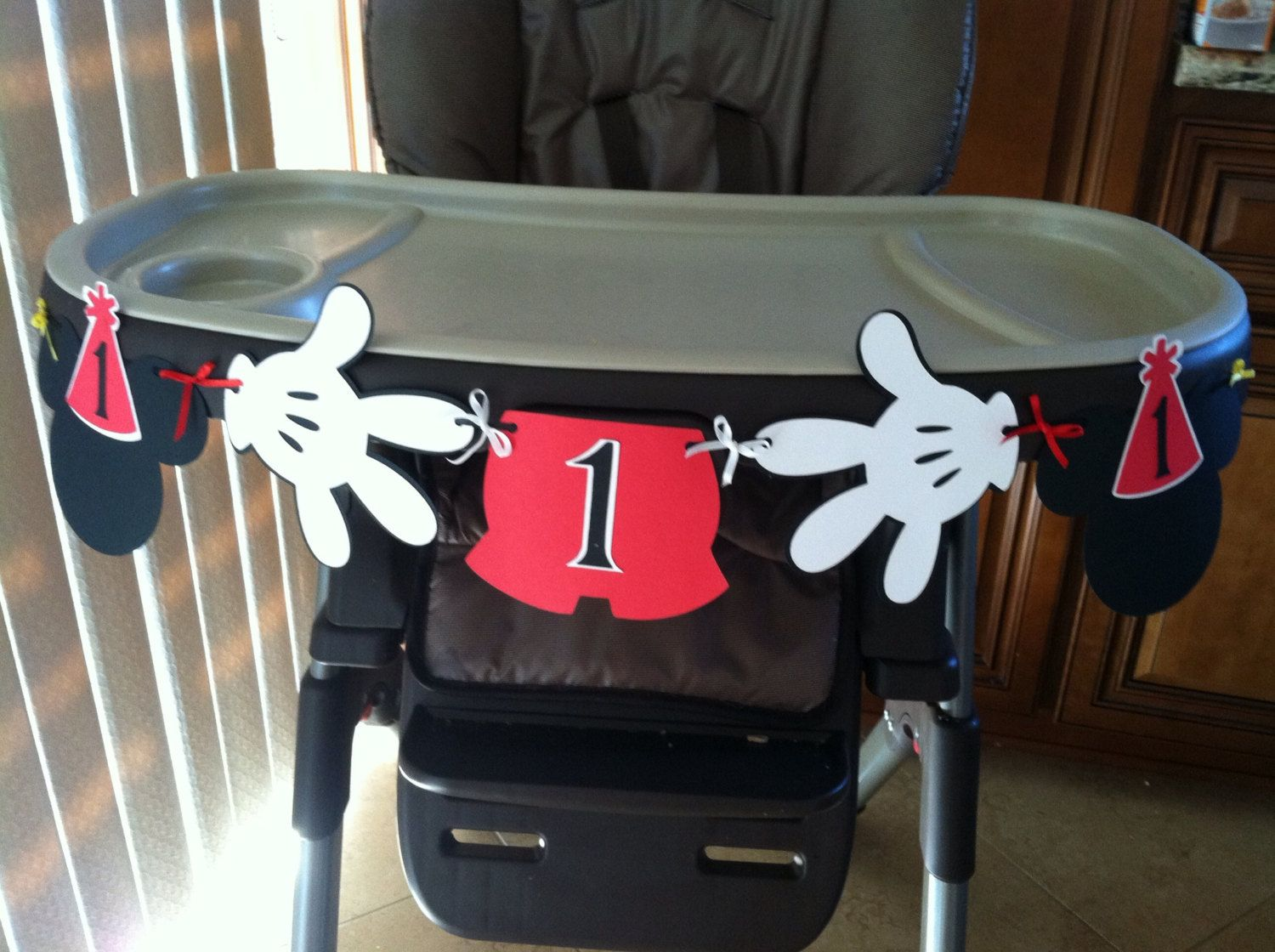 mickey mouse high chair decorations leap steelcase review i am 1 1st birthday banner