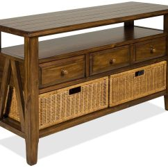 Sofa Table Storage Baskets Dfs 2 Seater Fabric Riverside Furniture Claremont 3 Drawer Console With