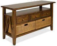 Riverside Furniture Claremont 3 Drawer Console Table with ...