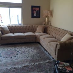 Chesterfield Style Fabric Sofa Bed Vancouver Wa Kenzie Custom Or Sectional