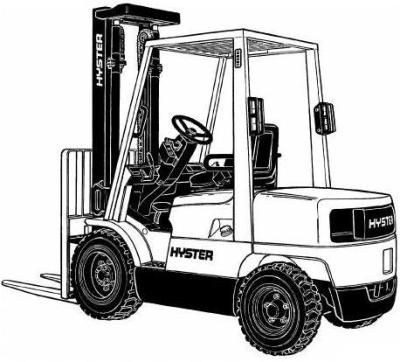 Hyster Forklift Truck H177 Series: H2.00XM, H2.50XM, H3