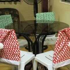 Christmas Chair Covers Pinterest Patio Cushions Santa Hat Seat Cover Crafts