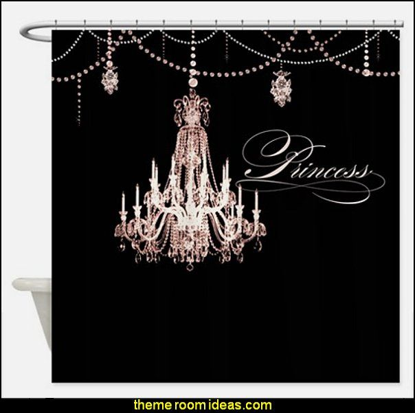Princess Chandelier Y Jewel Pearl Design Shower Curtain