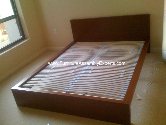 Ikea Malm Bed Frames Sultan Laxery Slat Assembled In The Allegro Apartments Washington Dc