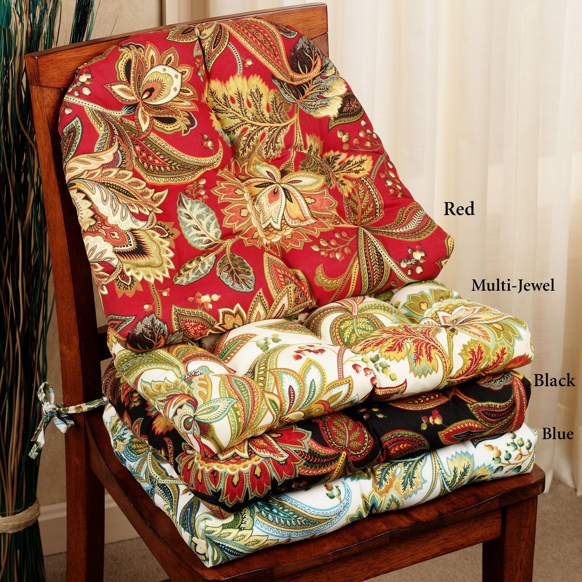 french country kitchen chair cushions curved back adirondack chairs valbella jacobean floral indoor outdoor cushion set