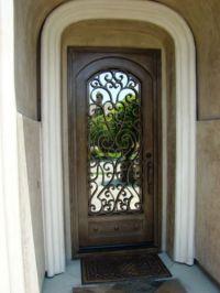 Wrought Iron Entry Doors, Single Door SD38003 | Single ...