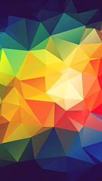 Colorful Abstract Triangle Shapes Render #iPhone #7 # ...