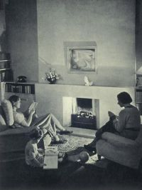 Living room, c. 1935; photograph   Home Decor & Cooking 30 ...