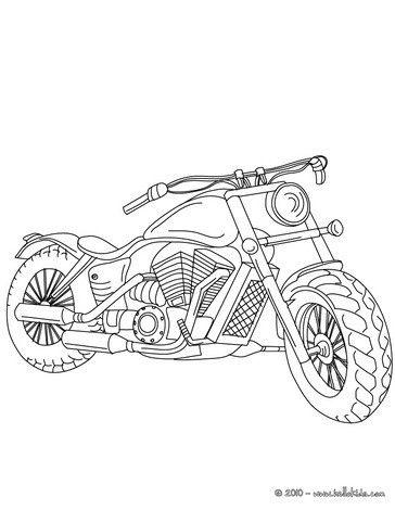 Harley Davidson coloring page Crafts for kids