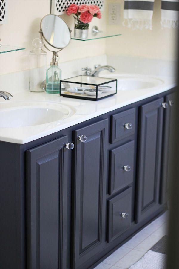 And Black Vanities Painted Bathroom After