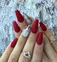 45 Simple Festive Christmas Acrylic Nail Designs for ...