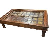 Antique Coffee TABLE INDIAN Furniture Handmade Wood ...