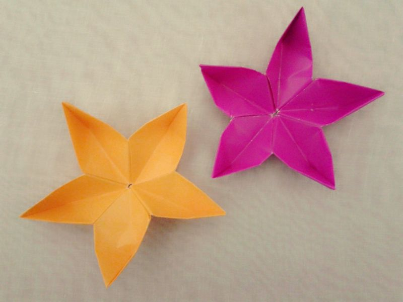 How To Make A Quick And Easy Origami Flower | Howsto.Co - photo#9