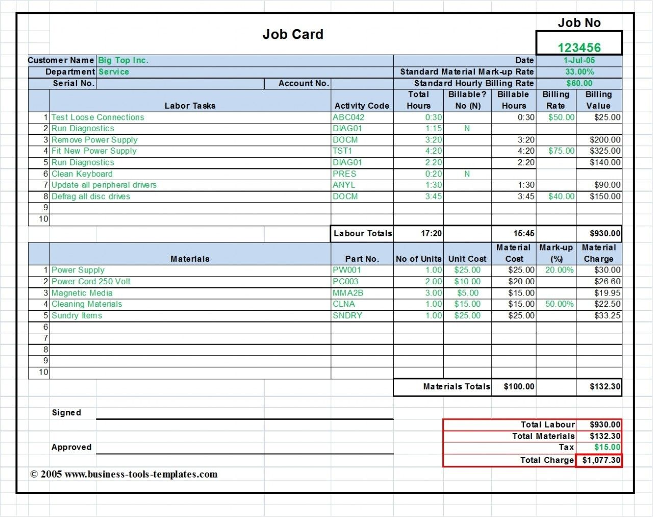 How To Calculate Labor Cost In Excel - arxiusarquitectura Pertaining To Job Cost Report Template Excel