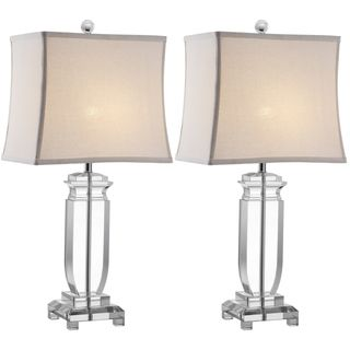overstock - indoor 1-light olympia crystal table lamps (set of