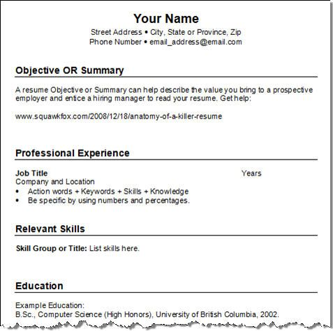 Examples Of Job Resume Part Time Job Resume Example 10 Sample