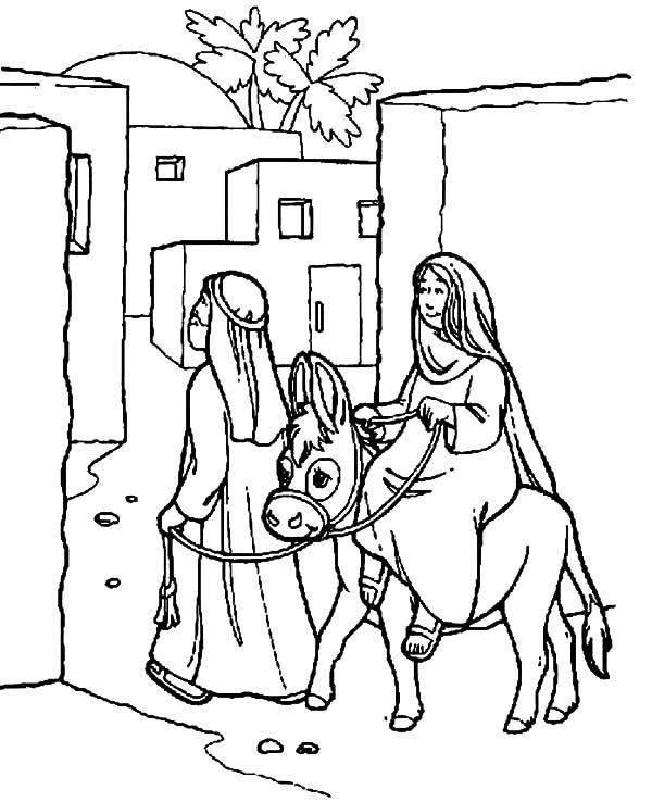 Joseph And The Well Coloring Page Sketch Coloring Page