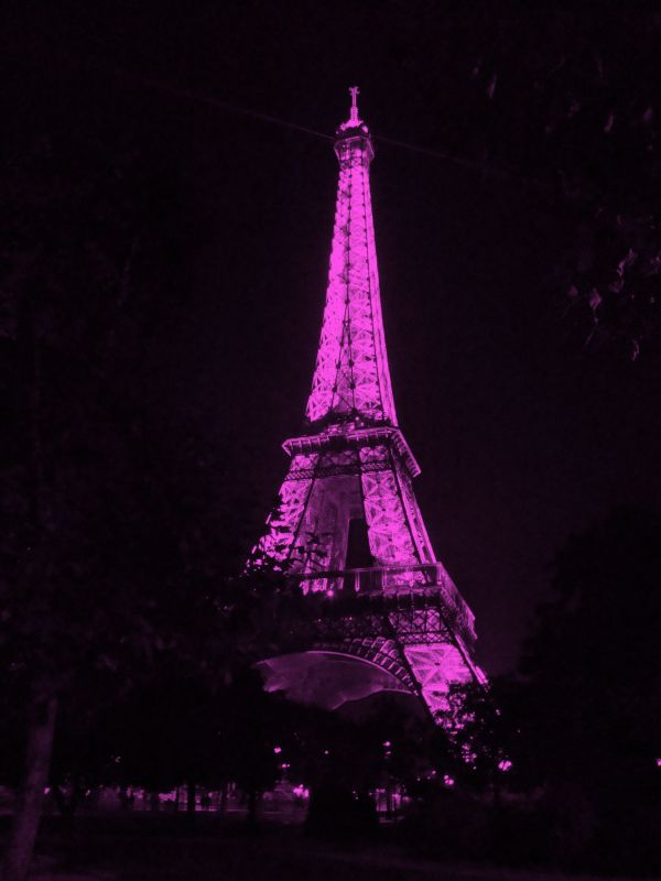 World Pink Eiffel Tower France And Spaces