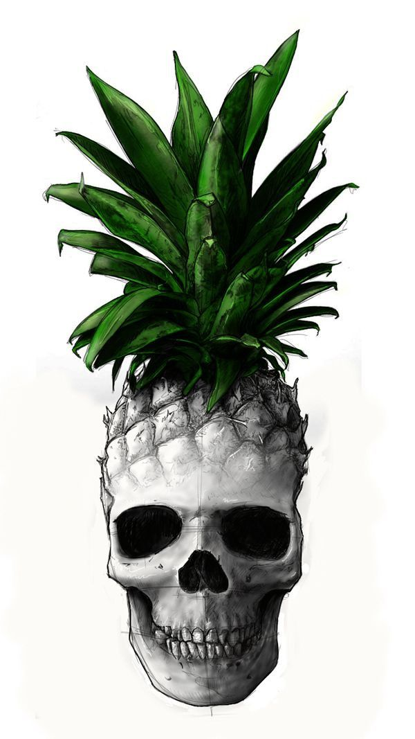 Sugar Skull Iphone Wallpaper Pineapple Skull Art Pinterest Tattoo