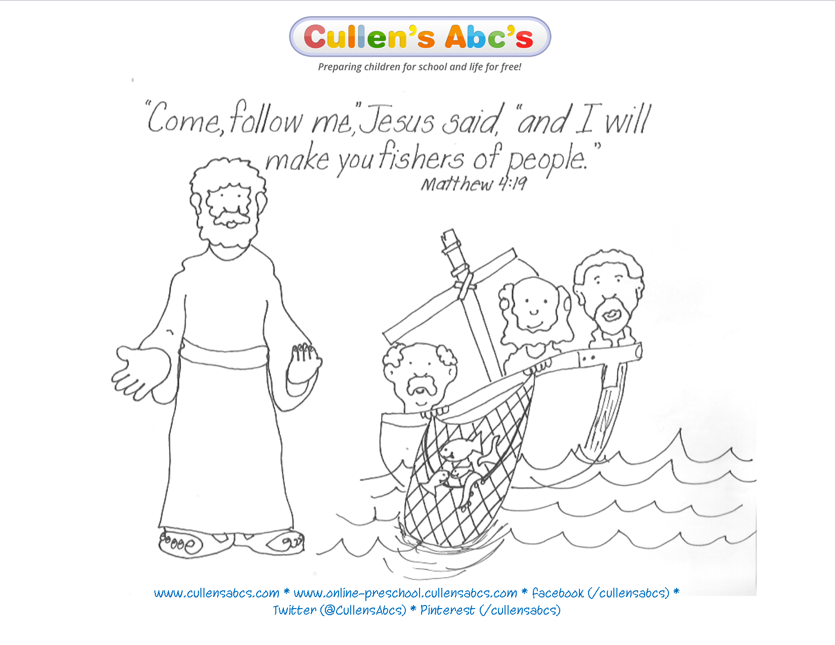 Jesus Chooses His Disciples Bible Key Point Coloring Page For A Complete Approach To Christian