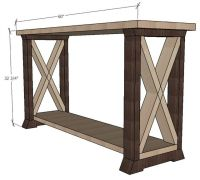 X leg console table - free and easy project plans from ...