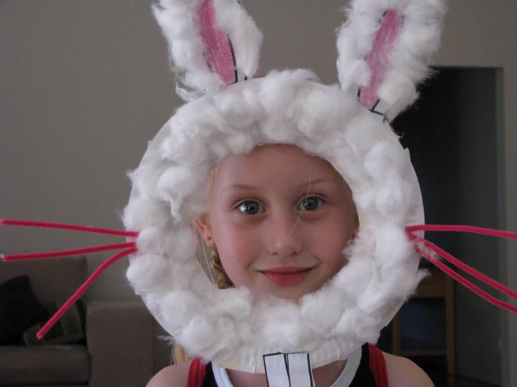 Paper Plate Easter Bunny Masks