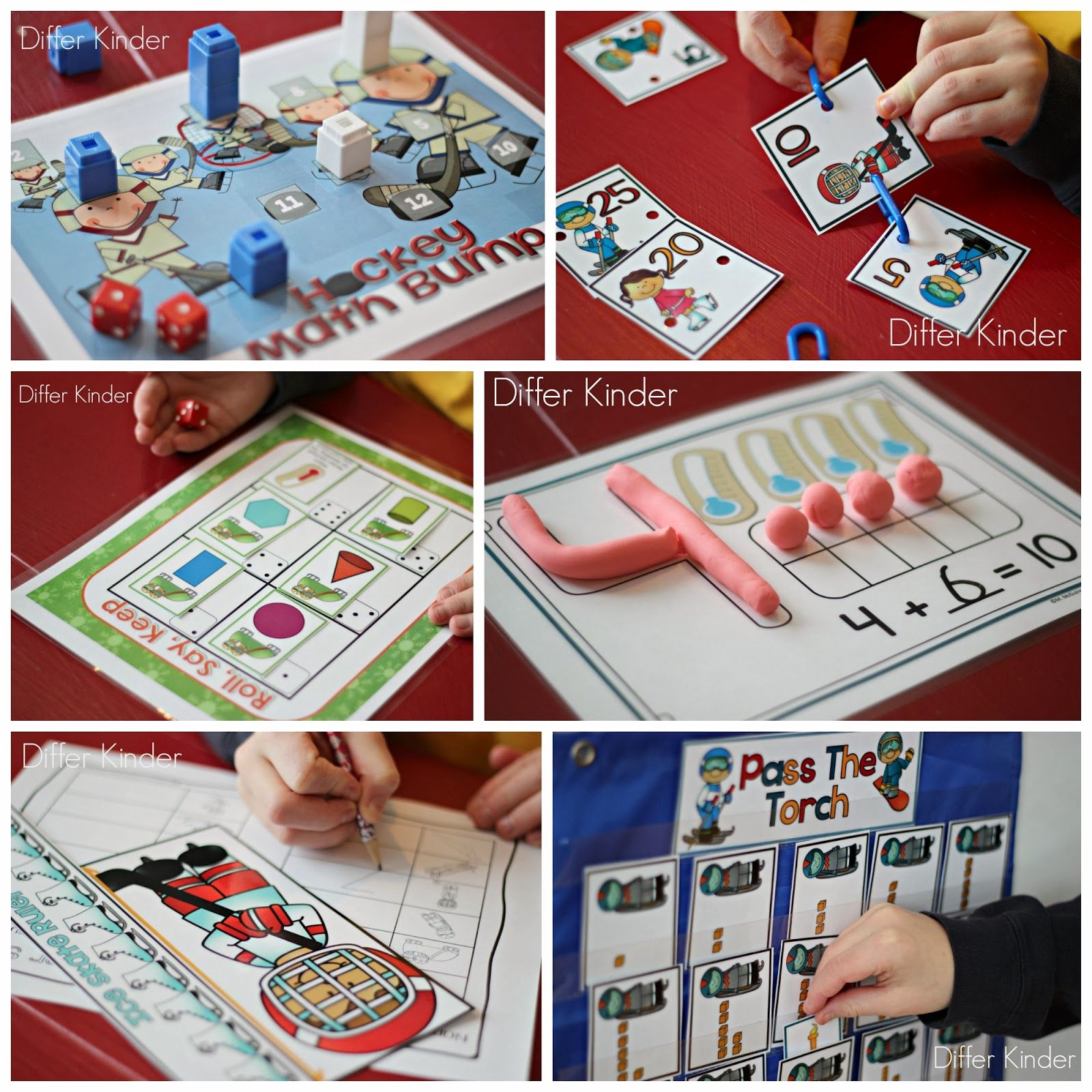 Olympic Sized Differentiated Math Stations Fun A