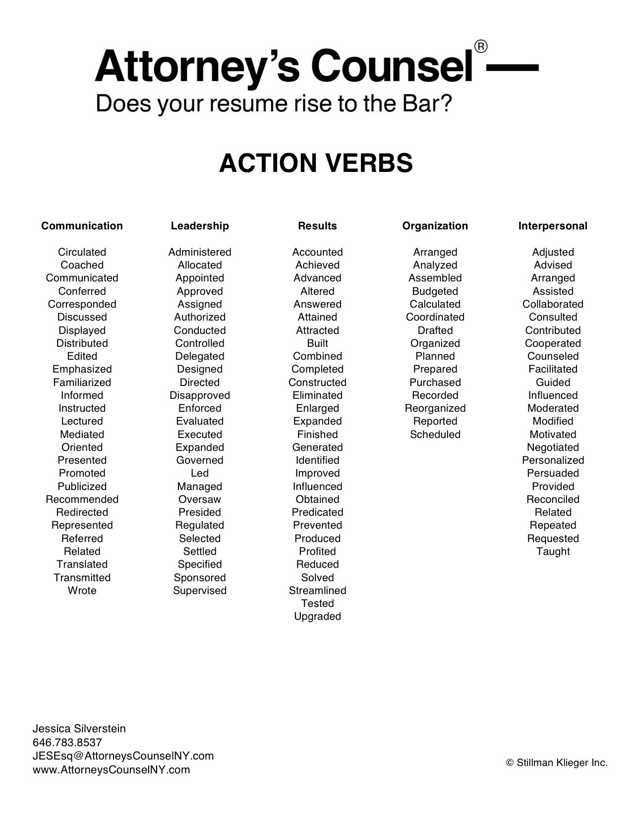 Civil Litigation Paralegal Resume Just A Few Action Verbs To Use On Your Legal Resume Job