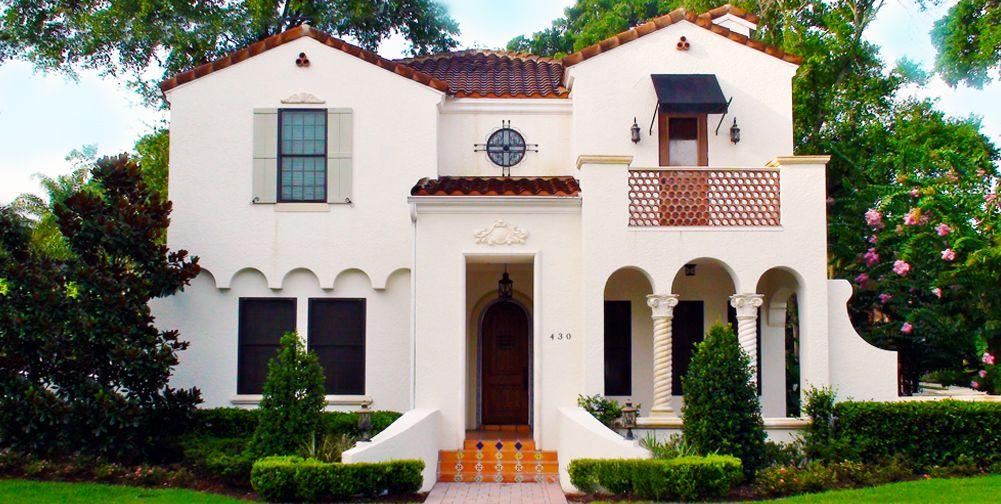 Spanish Mediterranean Style Home Plans Spanish & Mediterranean