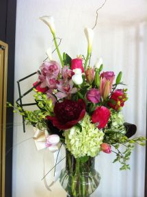 Floral Arrangement With Peonies Robyn Wedding Flowers