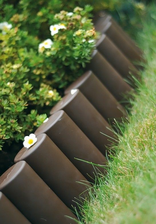 Details About OL5 Garden LOG ROLL Fence Lawn Edging Boarder Edge
