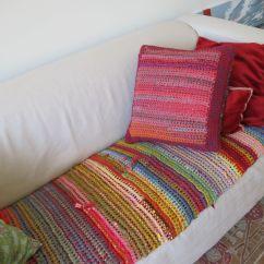 Crochet Sofa Cover Patterns Ashley Furniture Reclining Reviews T Shirt Yarn Blanket Pinterest