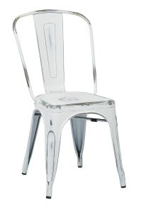 vintage metal dining chair.. distressed white. Amazon.com ...