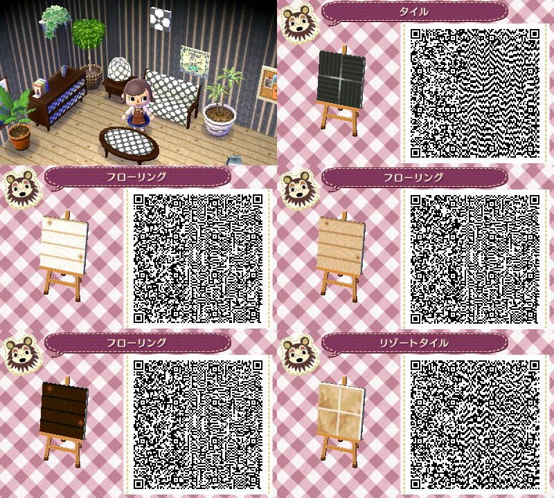 Cute Pokemon Tile Wallpaper Animal Crossing Floor Qr Codes Animal Crossing