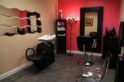 small salon in home